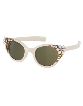 ASOS Premium Embellished Cat Eye Sunglasses