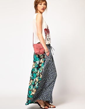 Maison Scotch Maxi Skirt in Mixed Print