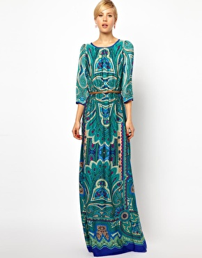 Mango Paisley Print Maxi Dress