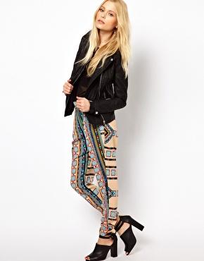 River Island Drape Trouser In Moroccan Print