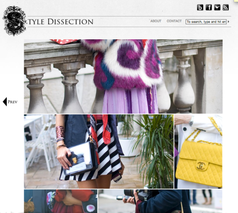 Captured by blogger Style Dissection- homepage sneak peak